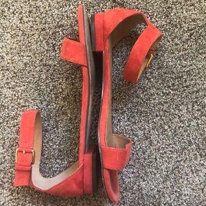 J.Crew red suede sandals
